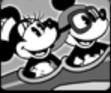 Mickey y minnie avión
